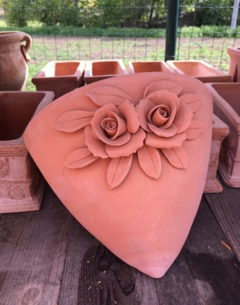Terracotta Flower závesná
