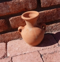 Amfora picollo váza tehlová