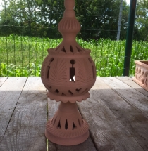 Grande svietnik terracotta 2